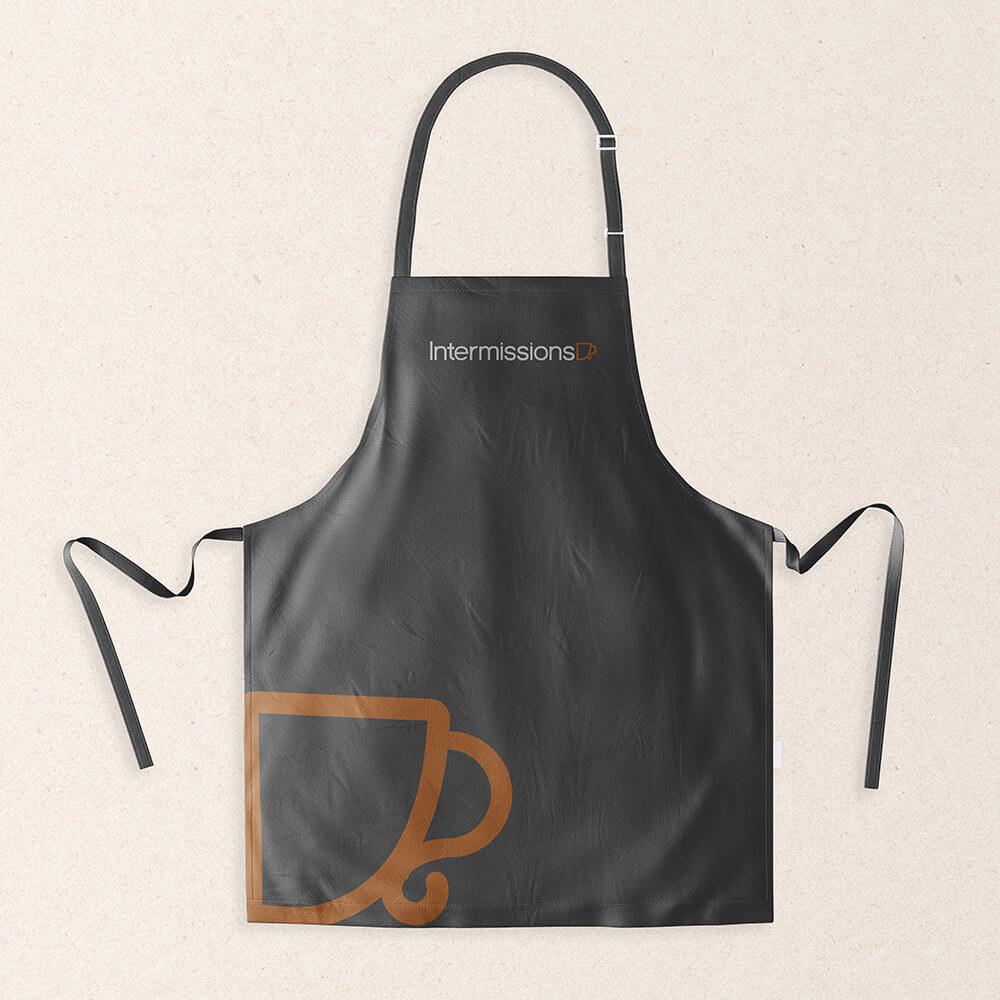 Intermissions-Coffee-Shop-Logo-Design-Brand-Apron-Design-1