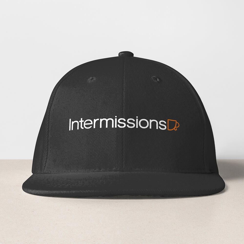 Intermissions-Coffee-Shop-Logo-Design-Brand-Hat-Design-1