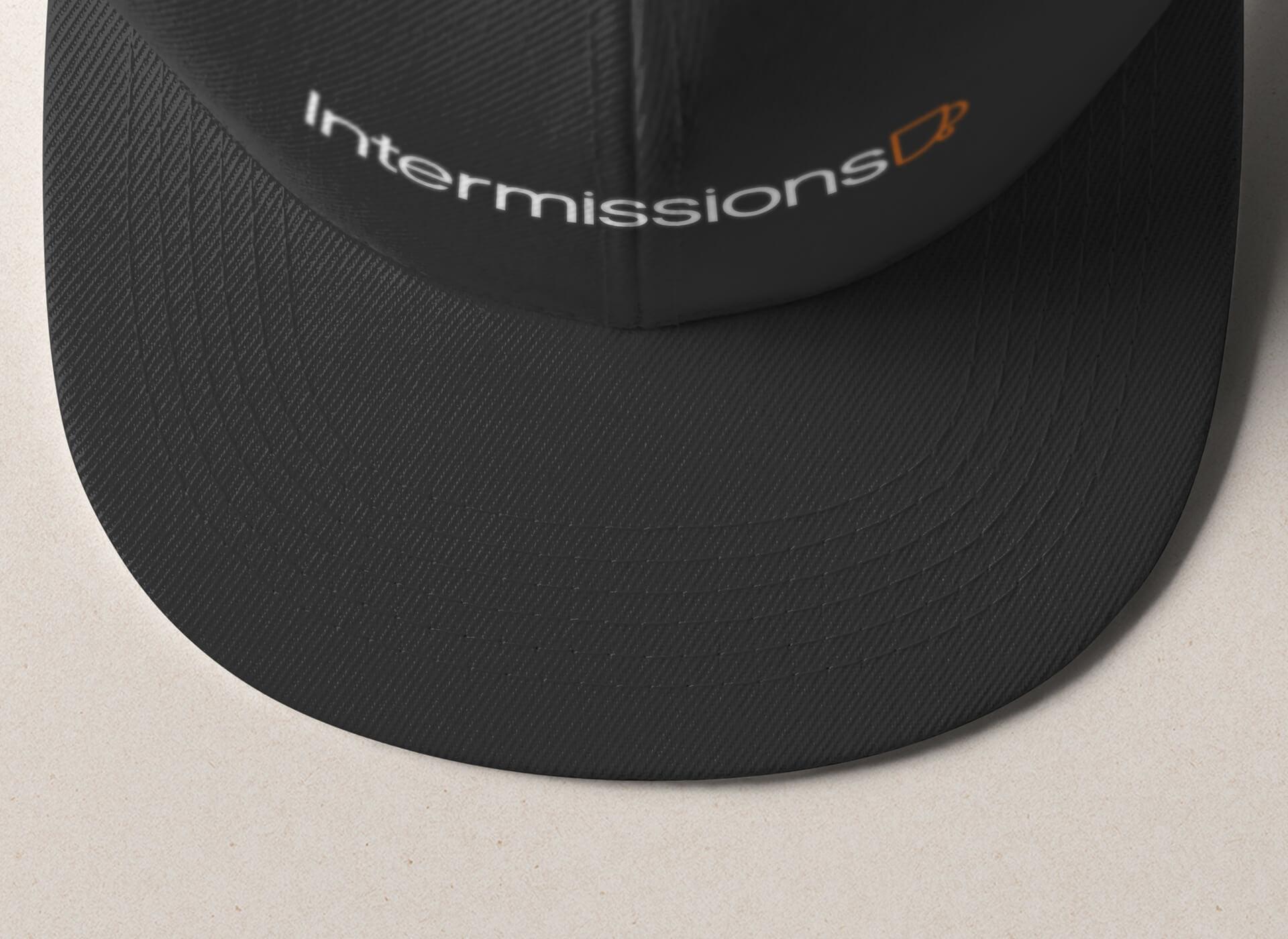 Intermissions-Coffee-Shop-Logo-Design-Brand-Hat-Design-2